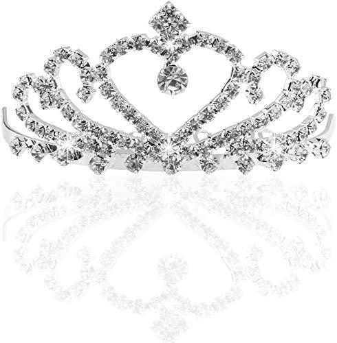 Plztou Fascia da Sposa Spumante di Cristallo di Cristallo della Corona della Corona con Il Pettine
