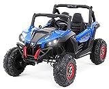 Kinder Elektroauto Buggy XMX603 Allrad 4x4 35 Watt Motoren mit Ledersitz Kinderauto Elektro Auto in vielen Farben (Blau/Schwarz)
