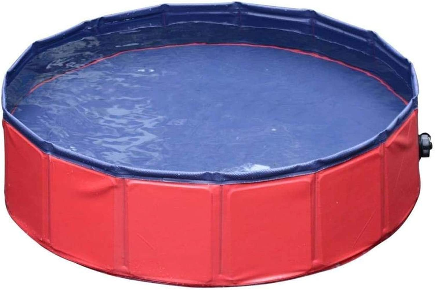 Botrong PVC Pet Swimming Pool Portable Foldable Pool Dogs Cats Bathing Tub Bathtub Wash Tub Water Pond Pool & Kiddie Pools Kids in The Garden (80x20cm 31x5 inch)