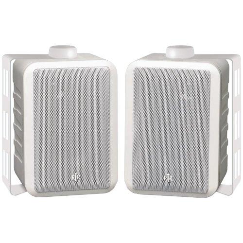 "BIC AMERICA RTRV44-2W 4"" RtR Series Indoor/Outdoor 3-Way Speaker Pair (White)"