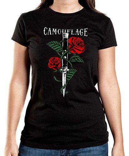 Certified Freak Knife Roses T-Shirt Girls Black XXL
