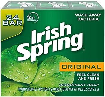 24-Count Irish Spring Original Deodorant Bar Soap, 11.1 Ounce