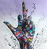 Graffiti Art Game Canvas Art Posters Game Handle Canvas Paintings on The Wall Kid's Room Decor 50x50cmnoframe W25-4
