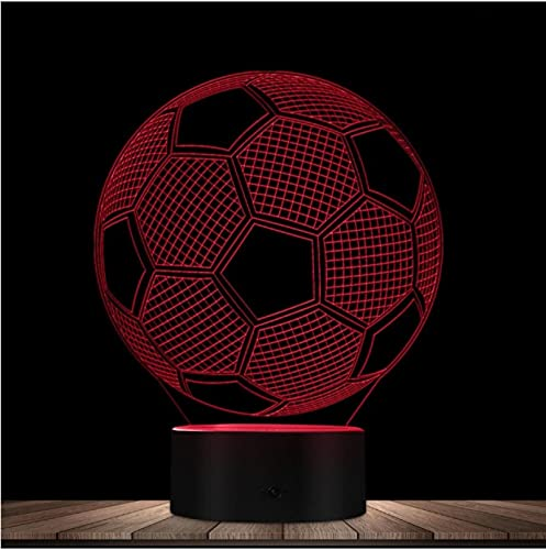 Lámpara de mesa Led de fútbol 3D, luz de humor que cambia, luz de noche Led deportiva, lámpara de ilusión óptica 3D de fútbol, regalo para fanáticos del fútbol