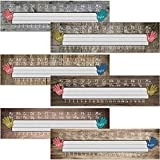 48 Pieces Home Sweet Classroom Name Plates Industrial Chic Traditional Manuscript Name Tag Name Labels with 160 Pieces Glue Point Dots for School Classroom Students Desks Teaching Supplies