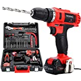 TEENO Cordless Drills & Screwdrivers Set with 2 Lithium-Ion Batteries 1500mAh Screwdriver Max