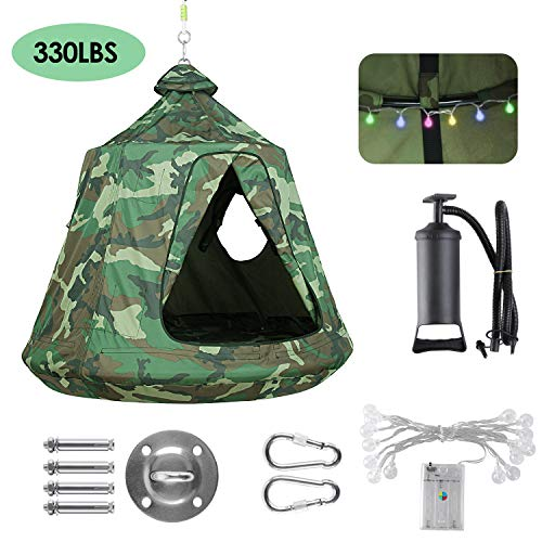 GARTIO Hanging Tree Tent, Waterproof Swing Play House, Portable Hammock Chair, with LED...