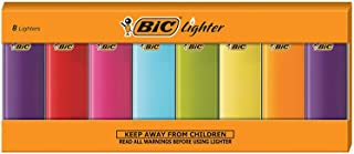 BIC Classic Electronic Series Lighters, Assorted Colors, Set of 8 Lighters