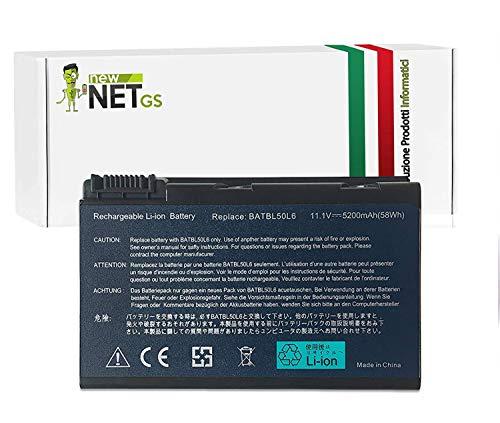 Batteria 10.8 V - 11.1 V Da 5200 MAh Compatible Con Acer Aspire 4230 Serie 4230 4233Wlmi Aspire 4280 Serie 4283Wlmi Aspire 5100 Serie 5100 5101 5101Awlmi 5102 5102Awlmi P120 5102Awlmi P80 5102AWLMi P80F