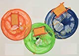 GLOW Crab Drop Nets Set of 3 with Net Bait Bag Holder 29cm Netting Trap with 15m of Rope & Hand Line for Safe Family Kids Fun Summer Beach Crabbing Boating Catching Fish Prawn Crayfish Lobster