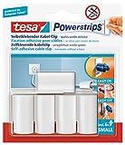 tesa Powerstrips Kabelclip / Kabel Clip selbstklebend / Zur Fixierung von Kabeln / In Weiß / 1 x 5...