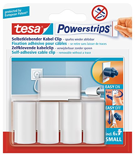 Tesa Removable Cable Clips - White