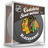 Sher-Wood Chicago Blackhawks NHL Eishockey Puck Untersetzer (4er Set) -
