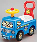 Allkindathings Push Along Sit On Ride On Police Car Walker Children With Storage Blue White Red