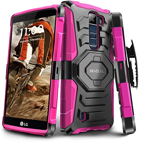 Evocel New Generation Series Phone Case Compatible with K10 (2016 Release) with Belt Clip Holster and Kickstand, Pink