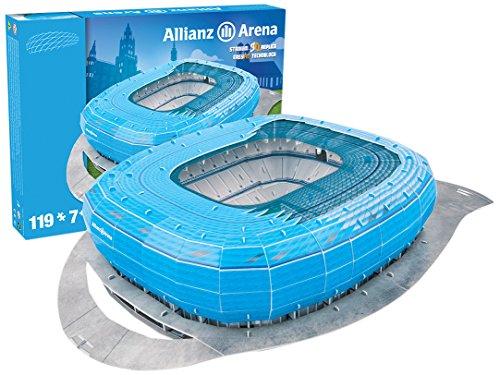 Giochi Preziosi 70022121 - 3D Stadion-Puzzle Alianz Arena Münch, blau