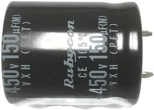 Set of 1, Rubycon 105°C Electrolytic Capacitor 150uF 450V (150 mfd 450V) 20% Radial, 11/16