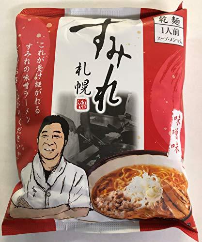 札幌すみれラーメン味噌味(乾麺/スープ・メンマ入)1食x10袋