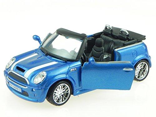 Mini Cooper S Cabrio blau Modellauto 18-43041B Bburago 1:32