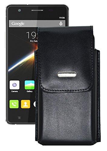 Vertikal Etui für / Cubot S500 / Köcher Tasche Hülle Ledertasche Vertical Hülle Handytasche mit einer Gürtelschlaufe auf der Rückseite