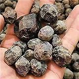 LVYAN Piedra de Grava de Cristal Granate Pulido Natural caído Rojo