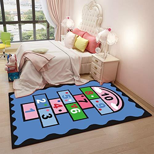 XXRUG Bettvorleger Fußmatte Anti-Rutsch-Matte Teppich Cartoon gedruckt Teppich Yoga Teppich Kinder...
