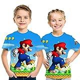 スーパーM-ar-ioキッズ/ユースTシャツ3Dカジュアル半袖Tシャツ 5693,110cm
