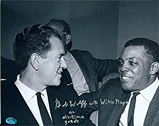 Bob Wolff autographed 8x10 Photo (Broadcaster Hall of Fame pictured with Willie Mays) Image #SC2 - Autographed MLB Photos