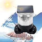 LED Boat Lights Bow and Stern, All Round Navigation Anchor Light, Easy to Install, IP66 Waterproof, Solar Powered for Pontoons, Yachts, Coaches, Fishing Boats, Speedboats