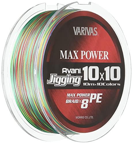 VARIVAS(バリバス) PEライン アバニ ジギング10×10 マックスパワーPE X8 200m 2号 33lb 8本 10色