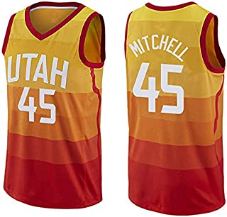 bac5b6f4bbe01 Action Sports Donovan Mitchell, Utah Jazz, Maillot de Basket-Ball pour  Hommes Gilet