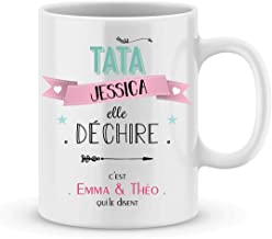 Cadeau tata à personnaliser avec votre prénom ; tata elle déchire- mug pour votre tata personnalisé - cadeau noël tata - c...