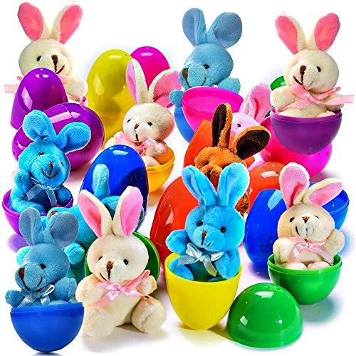 PREXTEX Huevos de Pascua de 7,6 cm Rellenos de Conejos