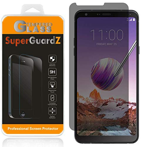 For LG Stylo 4 / LG Stylo 4+ / Stylo 4+ Plus Tempered Glass Screen Protector [Privacy Anti-Spy], SuperGuardZ, 9H Anti-Scratch, Anti-Bubble [Lifetime Replacements]