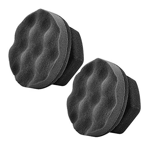 IPELY 2 Pack Large Tire Shine Applicator Pad, Durable and Reusable Hex-Grip Tire Dressing Applicator Pad for Applying Tire Shine