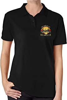 Arilce Too-Weird-to-Live-Too-Rare-to-Die Men Polo Shirt Short Sleeve Lapel Blouse Black