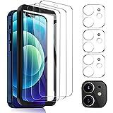 MSOVA Vetro Temperato Compatibile con iPhone 12 Mini, 3 Pezzi Vetro Temperato 3 Pezzi Pellicola Fotocamera, Durezza 9H Pellicola Protettiva Compatibile con iPhone 12 Mini 5.4