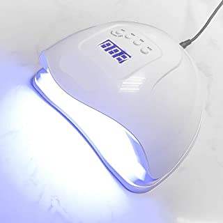 Lámpara de uñas 80w Pantalla digital Sensor automático Inducción infrarroja Lámpara de curado con luz solar