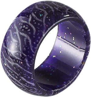 خاتم متوهج من الراتنج من نافاست، هدية للأطفال والرجال والنساء، مقاس 7-11
