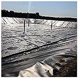 Teichfolie PVC 3 x 4 m Schwarz Teich Folie 12 m² Gartenteichfolie Gartenteich Koiteich Bachlauf Plane Pond für Gartenteich Stärke, UV-Beständig, Reißfest...