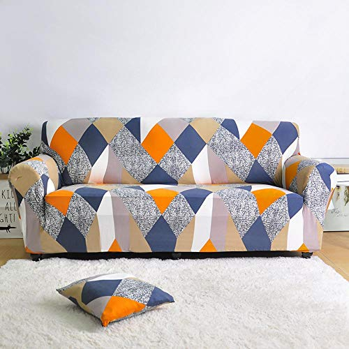 ASCV Funda de sofá elástica para Sala de Estar Funda de sofá de Licra para sofá de Esquina Funda de sillón A4 4 plazas