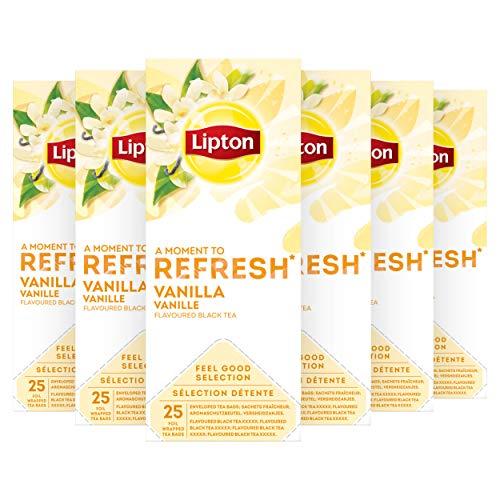 Lipton Feel Good Selection Zwarte Thee Vanille 6 x 25 zakjes Voordeelverpakking