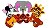 Playscene 1 Dozen Foam Zoo Animal Masks, Party Favors for Children (Zoo Animals)