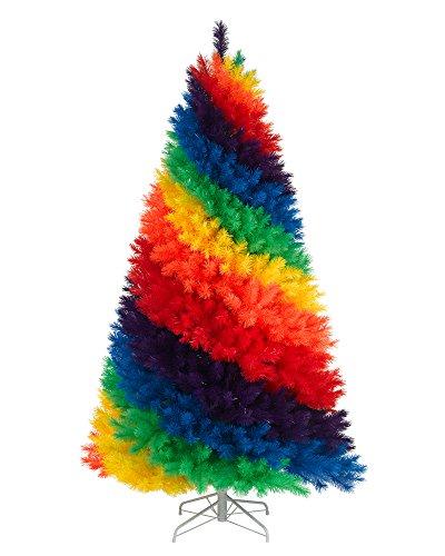 Treetopia Color Burst Rainbow Christmas Tree, 7 Feet, Unlit