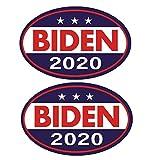 バイデンハリス2020車のステッカーオーバル政治キャンペーンサインジョーバイデンとカマラハリス2020アメリカ合衆国の旗車の窓冷蔵庫に最適、2個