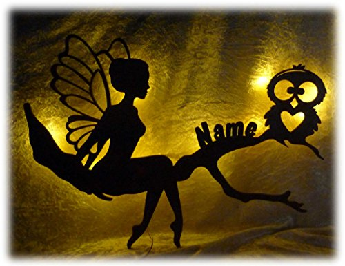 """Eulendesign Wandtattoo 3d Led nachttischlampe Wand-Lampe\""""Eulen-Treffen\"""", Geschenk mit Personalisierung für Erwachsene Mann Frau Opa Kind Mädchen Junge"""