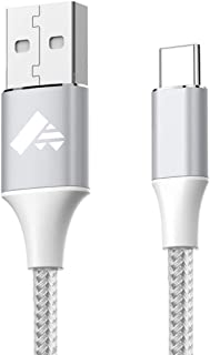 USB C Cable,Aioneus Type C Cable 2M Fast Charging Cable Lead Braided USB-C Charger Cable for Samsung Galaxy S10 S9 S8 A40 ...