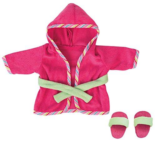 Bayer Design 83072 - Bademantel mit Schlappen für Puppen, Circa 28 - 30 cm, pink