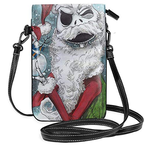 Hdadwy Womens Crossbody Bags - Jack Skellington Christmas Small Cell Phone Purse Wallet With Credit Card Slots