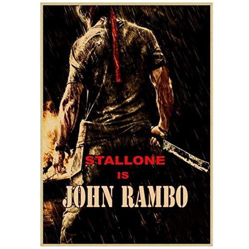 Gopfl Film First Blood Rambo Classic Wandkunst Poster Leinwand Malerei Home Decor Bilder Druck auf Leinwand -20X28 Zoll No Frame 1 Pcs